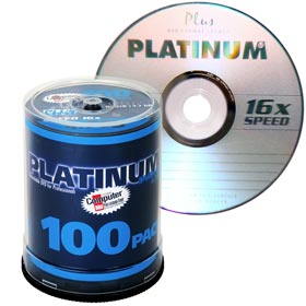 DVD+R 4,7 GB Platinum 16x Speed in Cakebox 100-pack