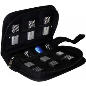 Tasche für USB-Sticks und Speicherkarten - für 6 USB-Sticks und 3 SD-Karten