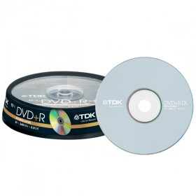 DVD+R DL 8,5 GB TDK 8x Speed Double Layer in campana 10 pezzi