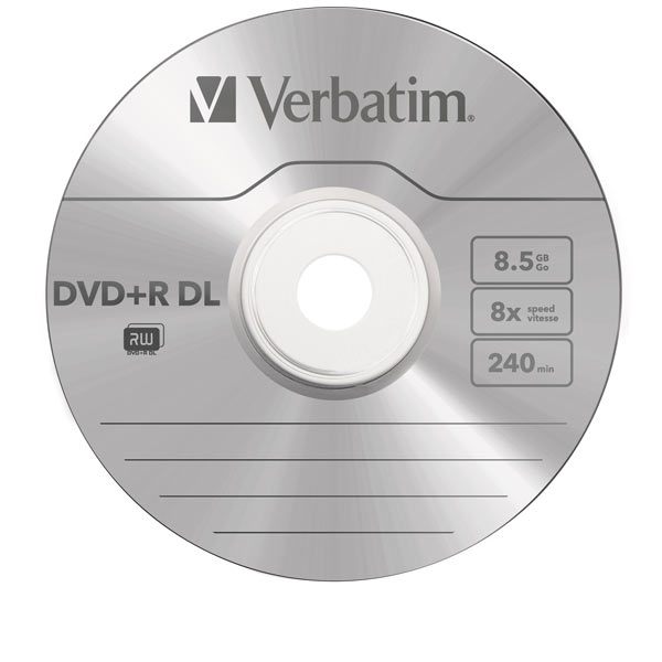 dvd r dl 8 5 gb verbatim 8x speed double layer in cakebox. Black Bedroom Furniture Sets. Home Design Ideas
