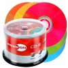 CD-R 80 Min/700 MB 52x PRIMEON LightScribe 1.2 Color Mix Edition Cakebox 50-pakkaus