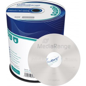 DVD+R DL 8,5 GB MediaRange 8x Speed Double Layer in campana di 100 pezzi