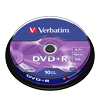 DVD+R 4,7 GB Verbatim 16x Speed in Cakebox 10-pack
