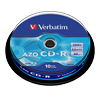 CD-R 80 Min/700 MB Verbatim 52x AZO Crystal in  in Cakebox 10-pack