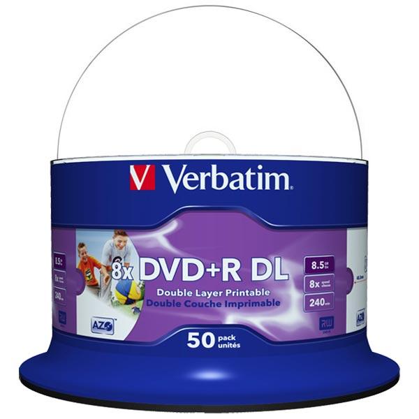 Verbatim DVD Double Layer DVD+R DL 8.5 GB / 240 min 8x, Full ... on