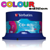 CD-R 80 Min/700 MB Verbatim 52x Datalife Colour Extra Protection i Cakebox 50 Stk