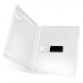 boitiers de rangement cl s usb 14 mm transparent taille. Black Bedroom Furniture Sets. Home Design Ideas