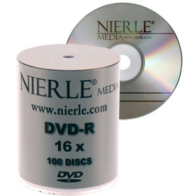 DVD-R 4,7 GB NIERLE Edition 16x ECO-Pack 100 stuks