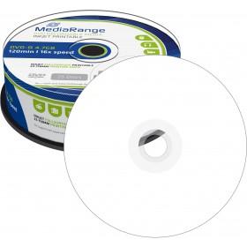 DVD-R 4,7 GB MediaRange 16x Speed fullprintable in Cakebox 25 Stk
