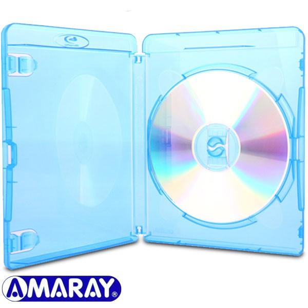 Slim 11 mm Transparente Machine-pack-quality Azul Amaray Blu-ray Envoltorios 50 unidades