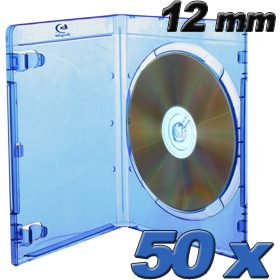 Blu-ray DVD-cases Prodye 12 mm blue  - 50 pack