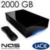 LaCinema Classic HD 3,5�� High Definition Media player mit NAS Funktion, USB 2.0-Port - 2000 GB