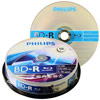 Philips Blu Ray Disc BD-R 135 min/25 GB 4x, 10 pieces in cakebox