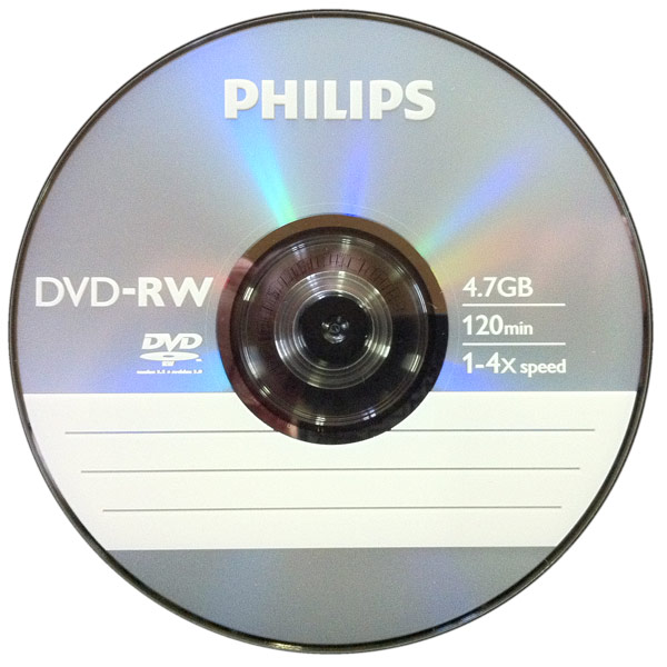 dvd rw 4 7 gb philips 4x speed in cakebox 10 pack. Black Bedroom Furniture Sets. Home Design Ideas