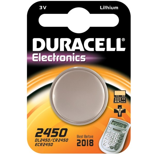 duracell lithium pile bouton cr2450 dl2450 5029lc e cr2450 3v 1 pi ces. Black Bedroom Furniture Sets. Home Design Ideas