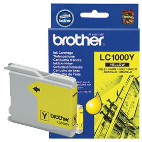 Brother Tintenpatrone LC-1000Y, Original, 400 Seiten, Gelb